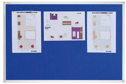 Felt Pin Board Contract Line 180 x 120CM Blue