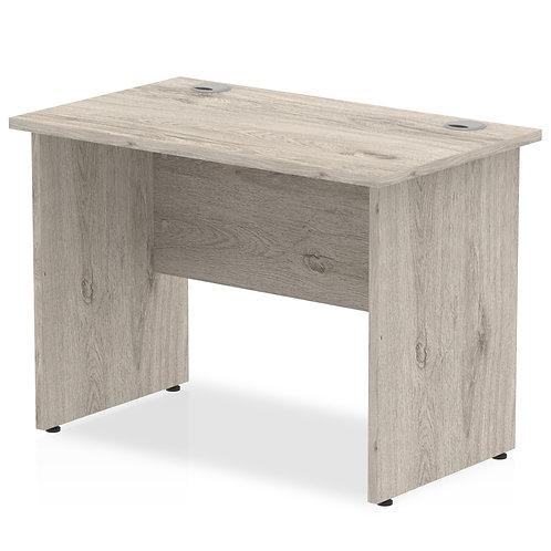 Impulse 1000/600 Rectangle Panel End Leg Desk Grey Oak