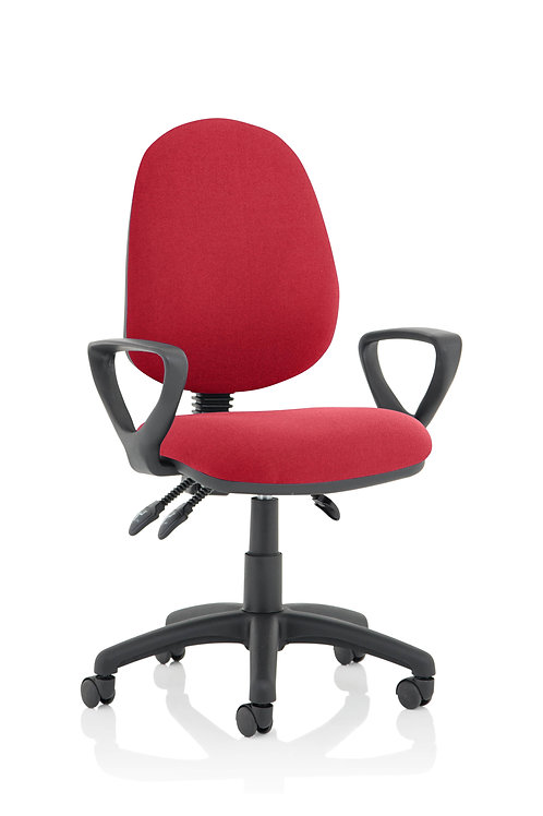 Eclipse Plus III Lever Task Operator Chair Wine With Loop Arms