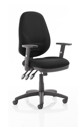 Eclipse Plus XL Lever Task Operator Chair Black With Height Adjustable Arms