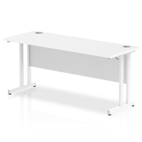 Impulse 1600/600 Rectangle White Cantilever Leg Desk White