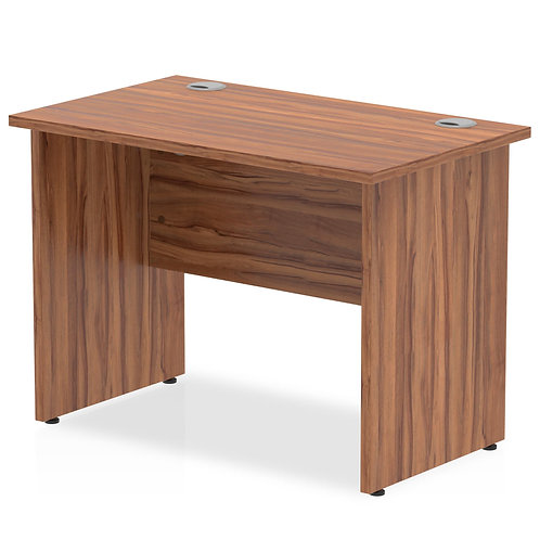 Impulse 1000/600 Rectangle Panel End Leg Desk Walnut