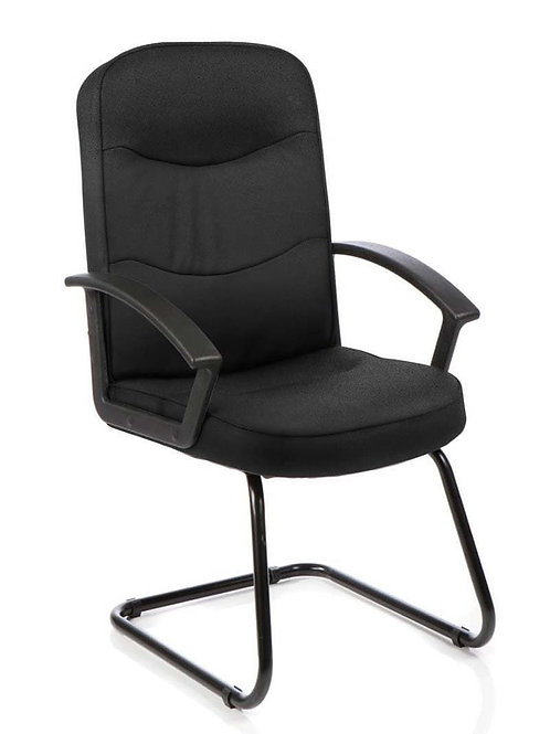 Harley Visitor Cantilever Black Fabric With Arms