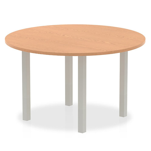 Impulse 1200 round Meeting Table Oak