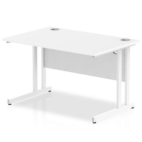Impulse 1200/800 Rectangle White Cantilever Leg Desk White
