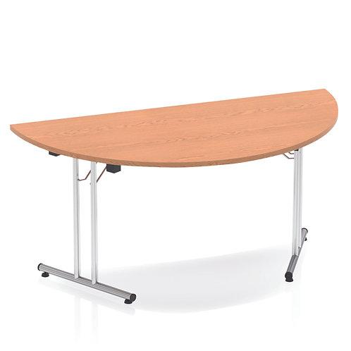 Impulse 1600 Folding Semicircle Table Oak