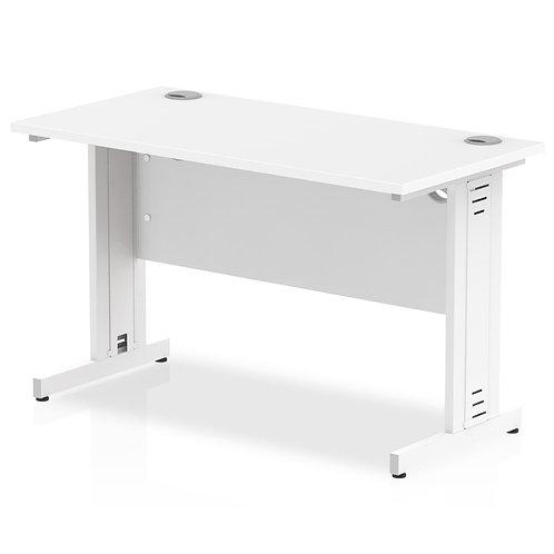 Impulse 1200/600 Rectangle White Cable Managed Leg Desk White