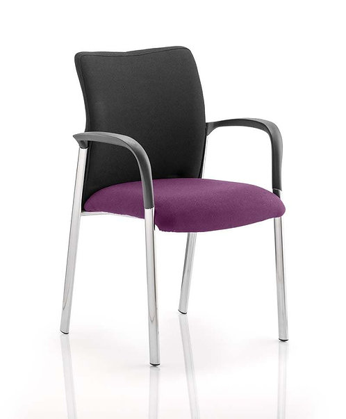 Academy Black Fabric Back Bespoke Colour Seat With Arms Tansy Purple