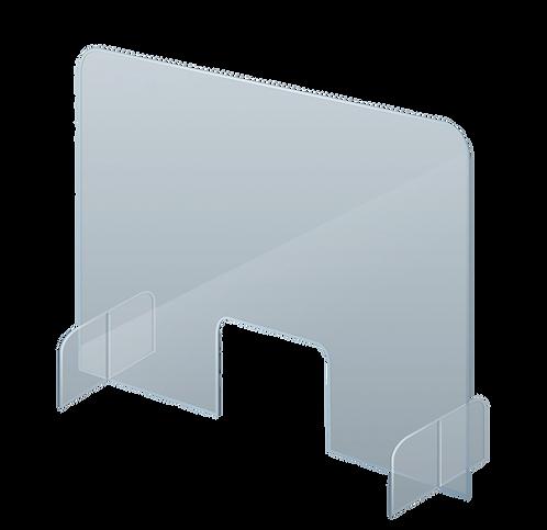 Counter & Desk Protection Screen, Acrylic Glass, 70 x 85 cm