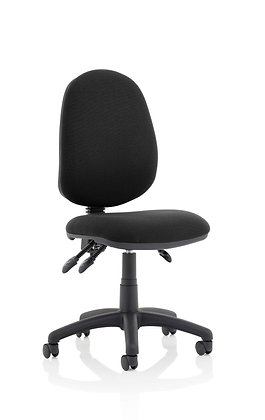 Eclipse Plus III Lever Task Operator Chair Black Without Arms