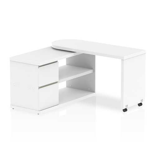 Fleur Smart Storage Desk White