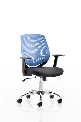 Dura Task Operator Chair Blue With Arms
