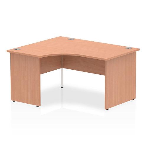 Impulse 1400 Left Hand Panel End Leg Desk Beech