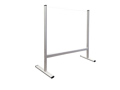 Counter and Desk Protection Screen, tempered glass,100 x 65 cm