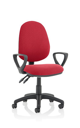 Eclipse Plus II lever Task Operator Chair Wine With Loop Arms