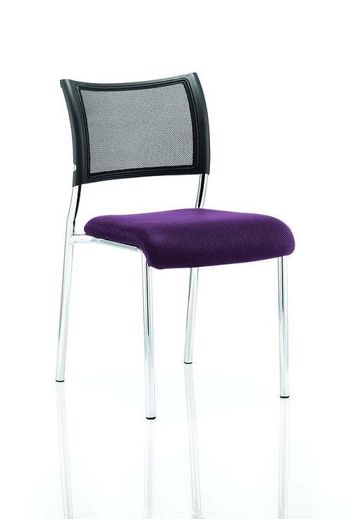 Brunswick No Arm Bespoke Colour Seat Chrome Frame Tansy Purple