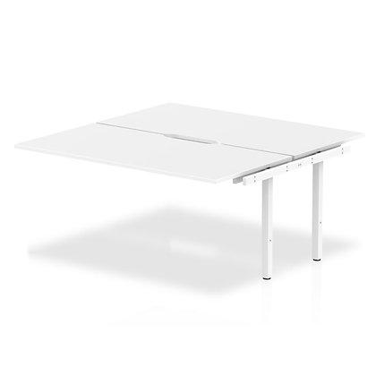 B2B Ext Kit White Frame Bench Desk 1600 White