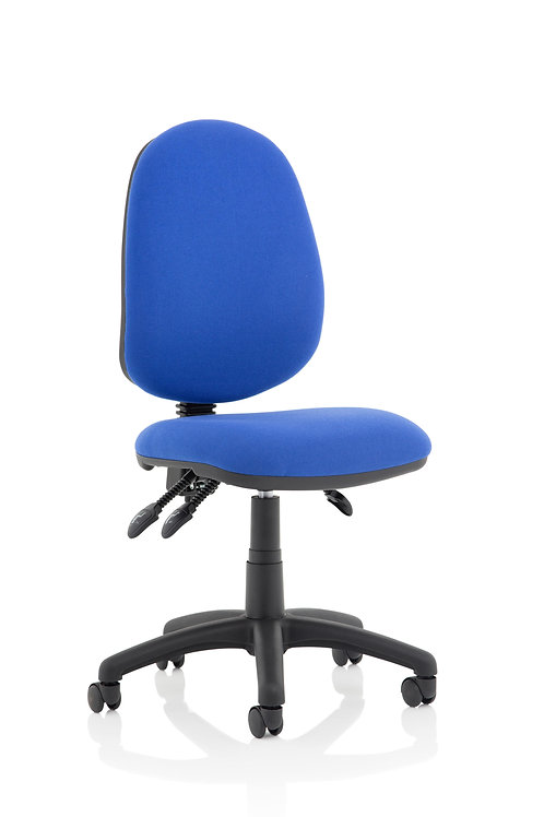 Eclipse Plus III Lever Task Operator Chair Blue Without Arms