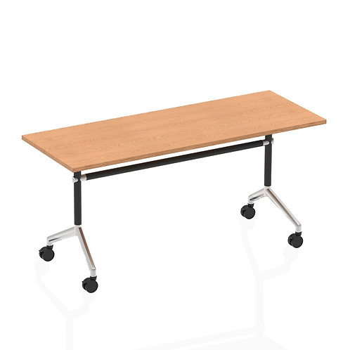 Impulse 1600 Flip Top Rectangular Table Oak
