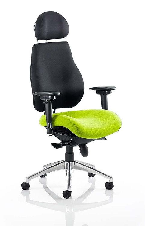 Chiro Plus Ultimate With Headrest Bespoke Colour Seat myrrh Green