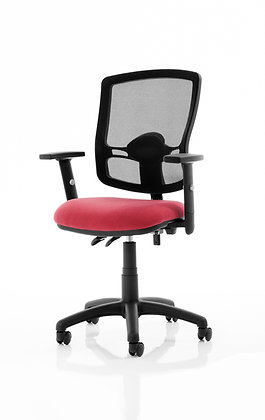 Eclipse Plus II Lever Task Operator Chair Mesh Back Deluxe With Wine Seat