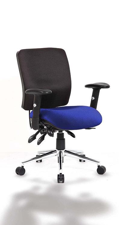 Chiro Medium Back Bespoke Colour Seat Stevia Blue