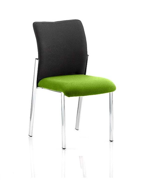 Academy Black Fabric Back Bespoke Colour Seat Without Arms myrrh Green