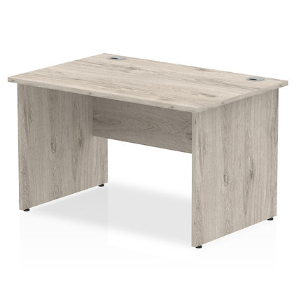 Impulse 1200/800 Rectangle Panel End Leg Desk Grey Oak