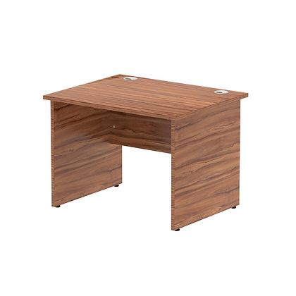 Impulse 1000/800 Rectangle Panel End Leg Desk Walnut