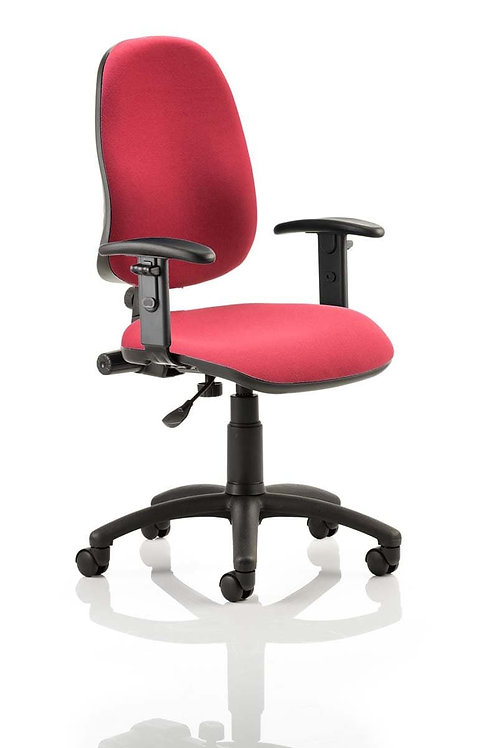 Eclipse Plus I Lever Task Operator Chair Wine With Height Adjustable Arms