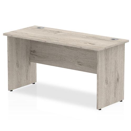 Impulse 1400/600 Rectangle Panel End Leg Desk Grey Oak