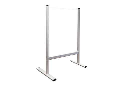 Counter and Desk Protection Screen, tempered glass, 40 x 65 cm