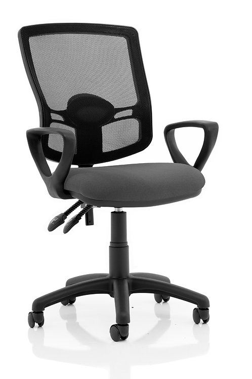 Eclipse Plus II Lever Task Operator Chair Mesh Back Deluxe With Charcoal Seat