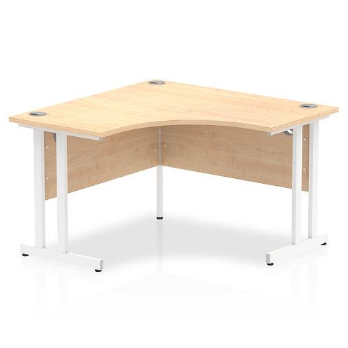 Impulse 1200 Corner Desk White Cantilever Leg Desk Maple