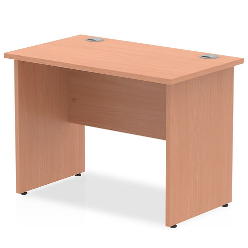 Impulse 1000/600 Rectangle Panel End Leg Desk Beech