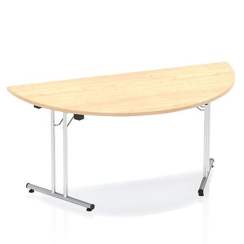 Impulse 1600 Folding Semicircle Table Maple