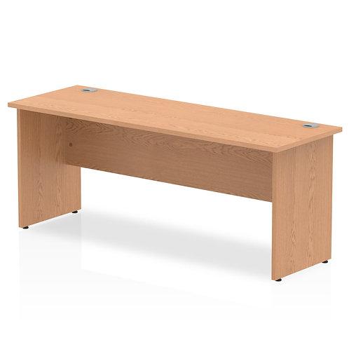 Impulse 1800/600 Rectangle Panel End Leg Desk Oak