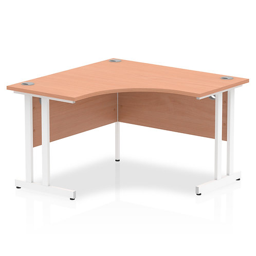 Impulse 1200 Corner Desk White Cantilever Leg Desk Beech