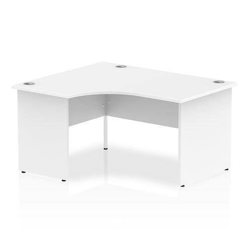 Impulse 1400 Left Hand Panel End Leg Desk White