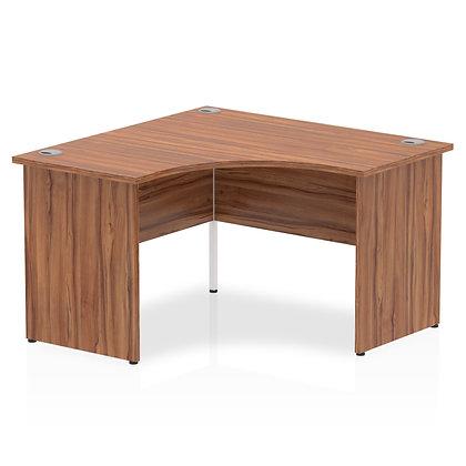 Impulse 1200 Corner Desk Panel End Leg Desk Walnut