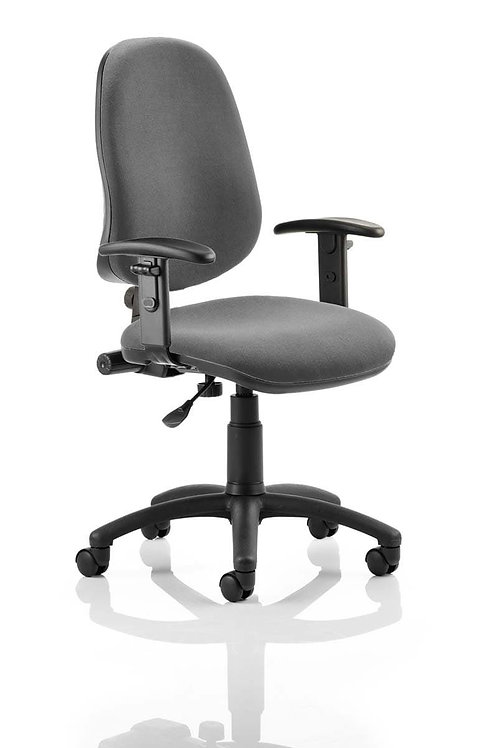 Eclipse Plus I Lever Task Operator Chair Charcoal With Height Adjustable Arms