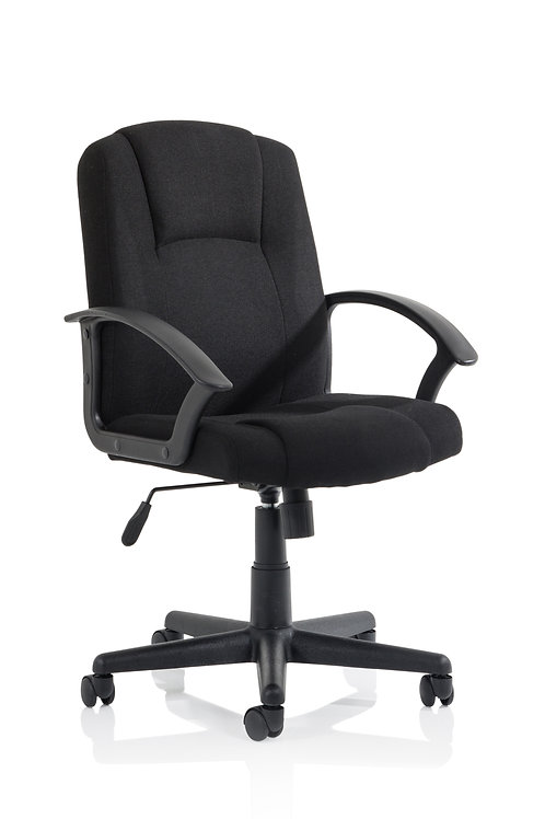 Bella Executive Managers Chair Black Fabric