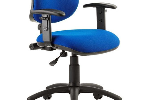 Eclipse Plus I Lever Task Operator Chair Blue With Height Adjustable Arms