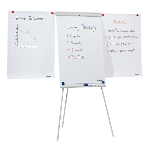 Flipchart X-tra!Line� Plus Tripod With 2 Extensions Magnetic