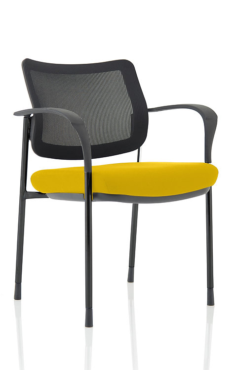 Brunswick Deluxe Mesh Back Black Frame Bespoke Colour Seat With Arms