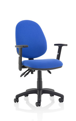 Eclipse Plus III Lever Task Operator Chair Blue With Height Adjustable Arms