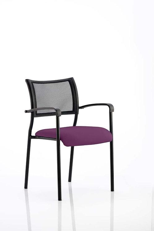 Brunswick Bespoke Colour Seat Black Frame Tansy Purple