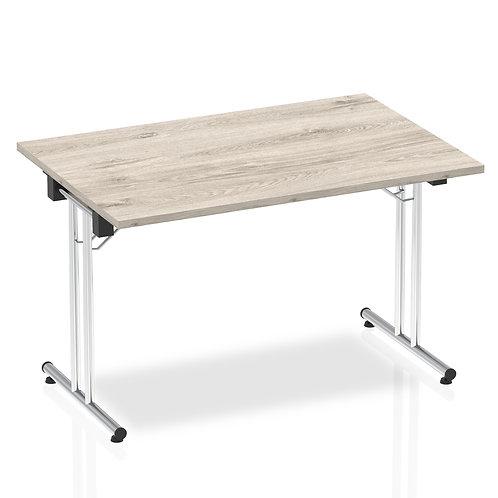 Impulse 1200 Folding Rectangular Table Grey Oak