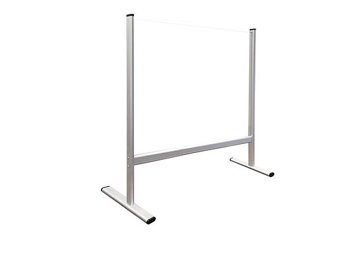 Counter and Desk Protection Screen, tempered glass, 80 x 65 cm