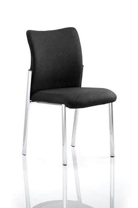 Academy Visitor Chair Black Fabric Back Without Arms